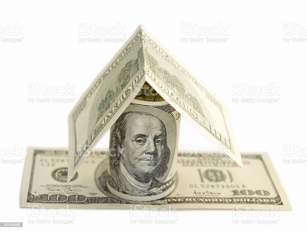dollar house royalty-free stock photo