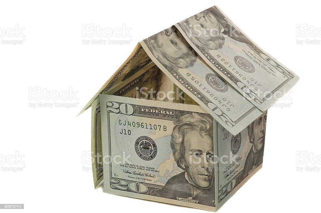 Dollar house royalty-free stock photo
