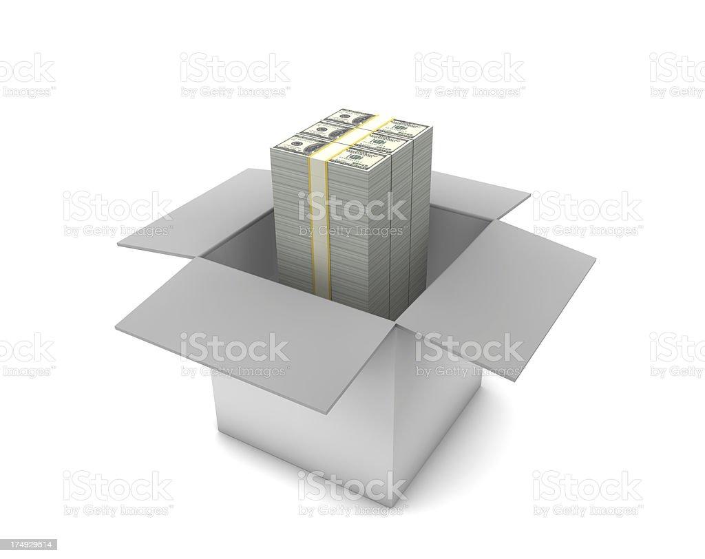 Dollar in Box royalty-free stock photo