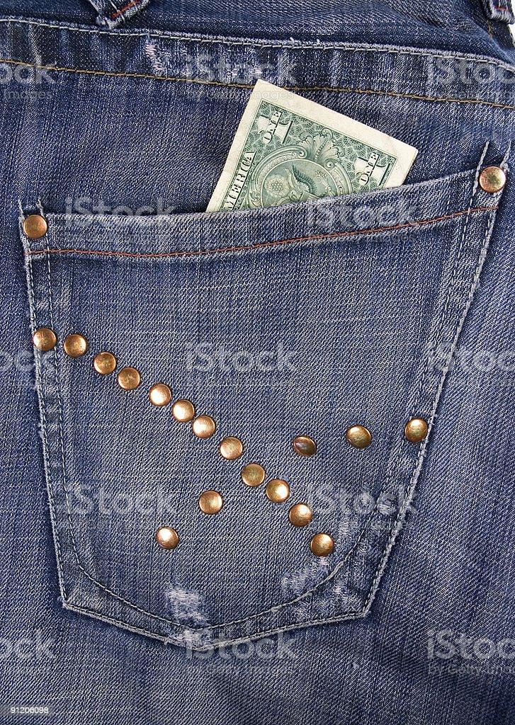 Dollar In Pocket. royalty-free stock photo