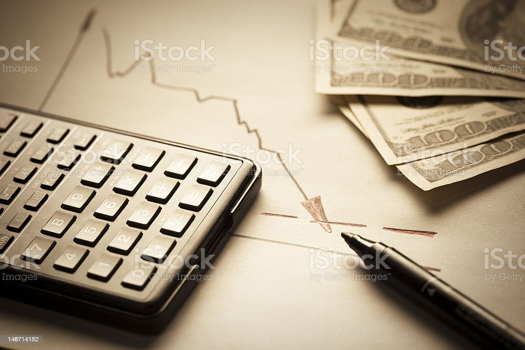 Dollar inflation concept royalty-free stock photo