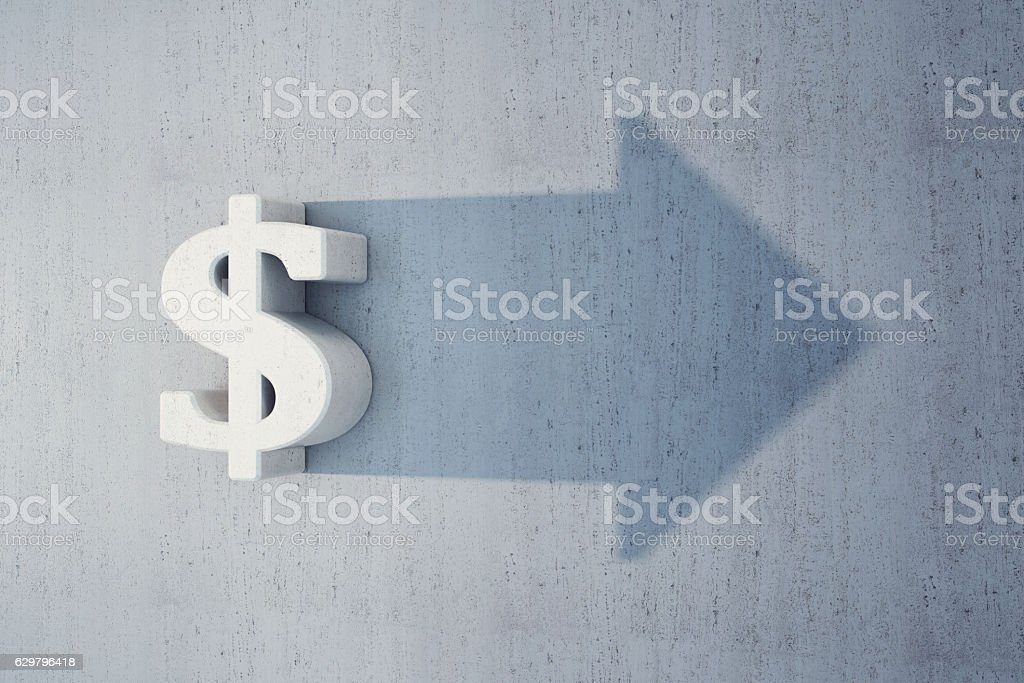 dollar is grow stock photo