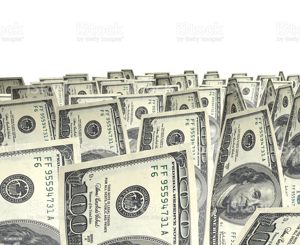 Dollar isolated on white stock photo