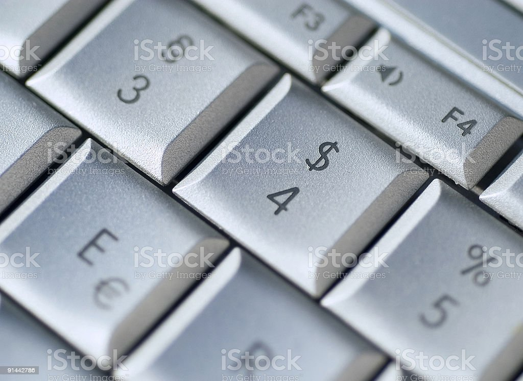 dollar keyboard royalty-free stock photo