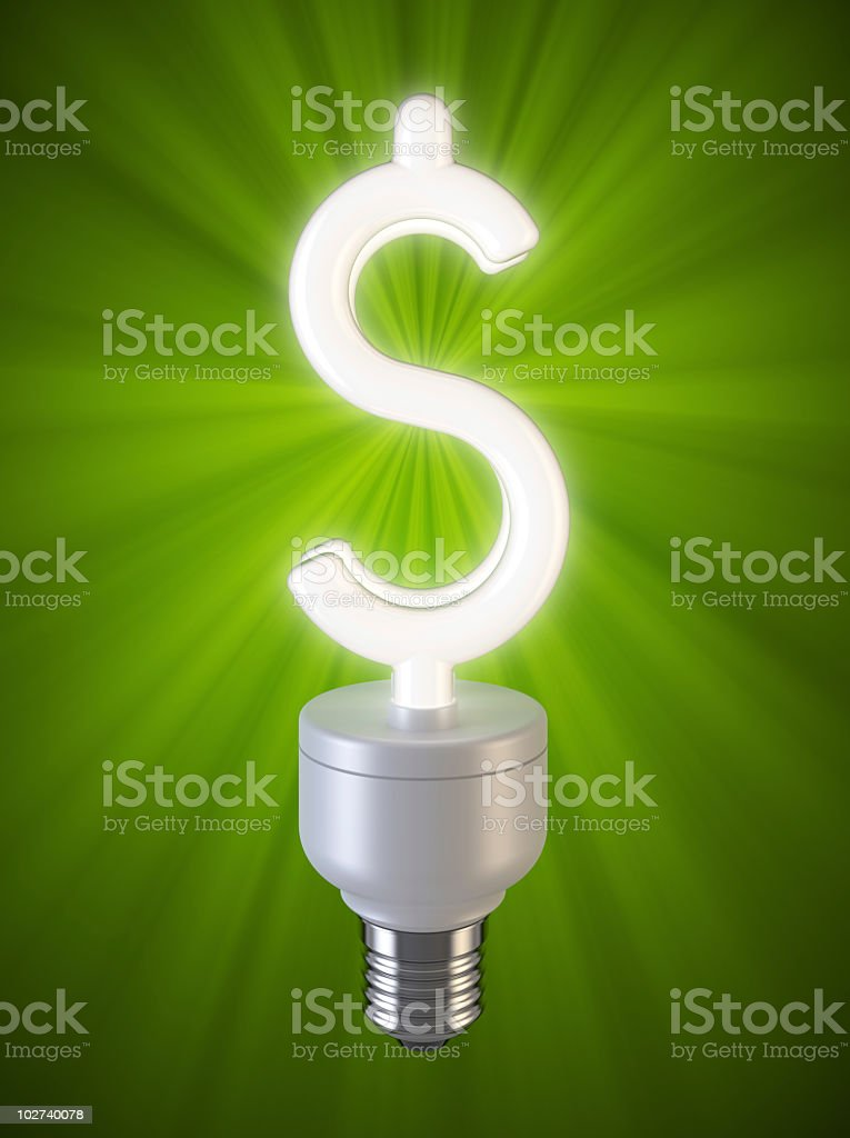 Dollar lamp. royalty-free stock photo