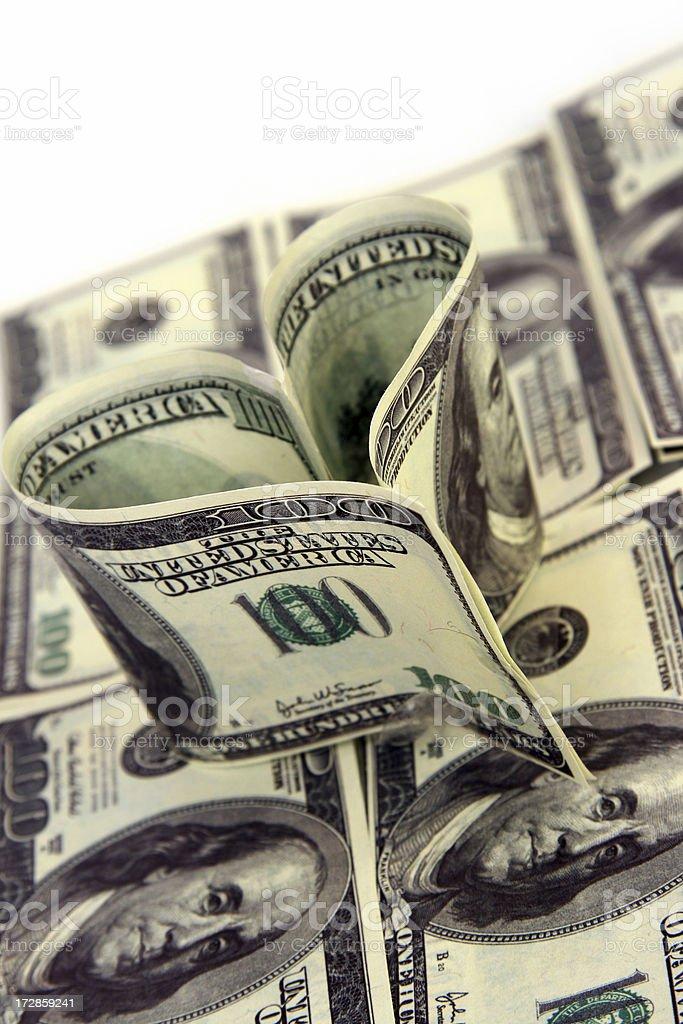 Dollar love royalty-free stock photo