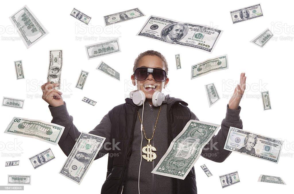Dollar money Rain stock photo