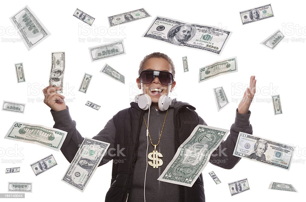 Dollar money Rain stock photo
