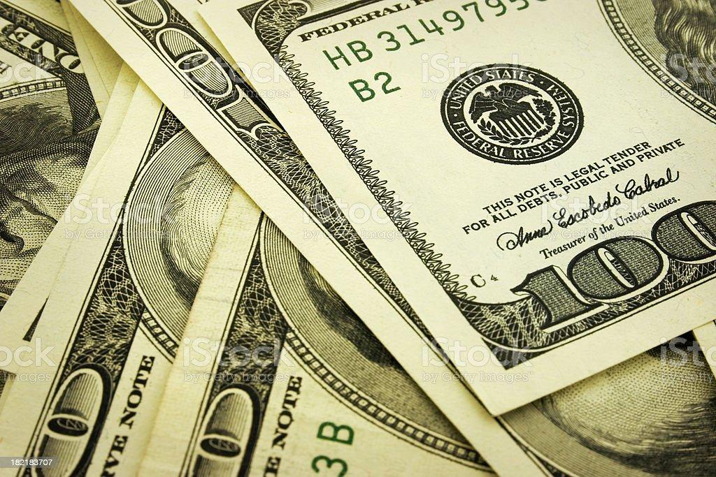 US Dollar Notes stock photo
