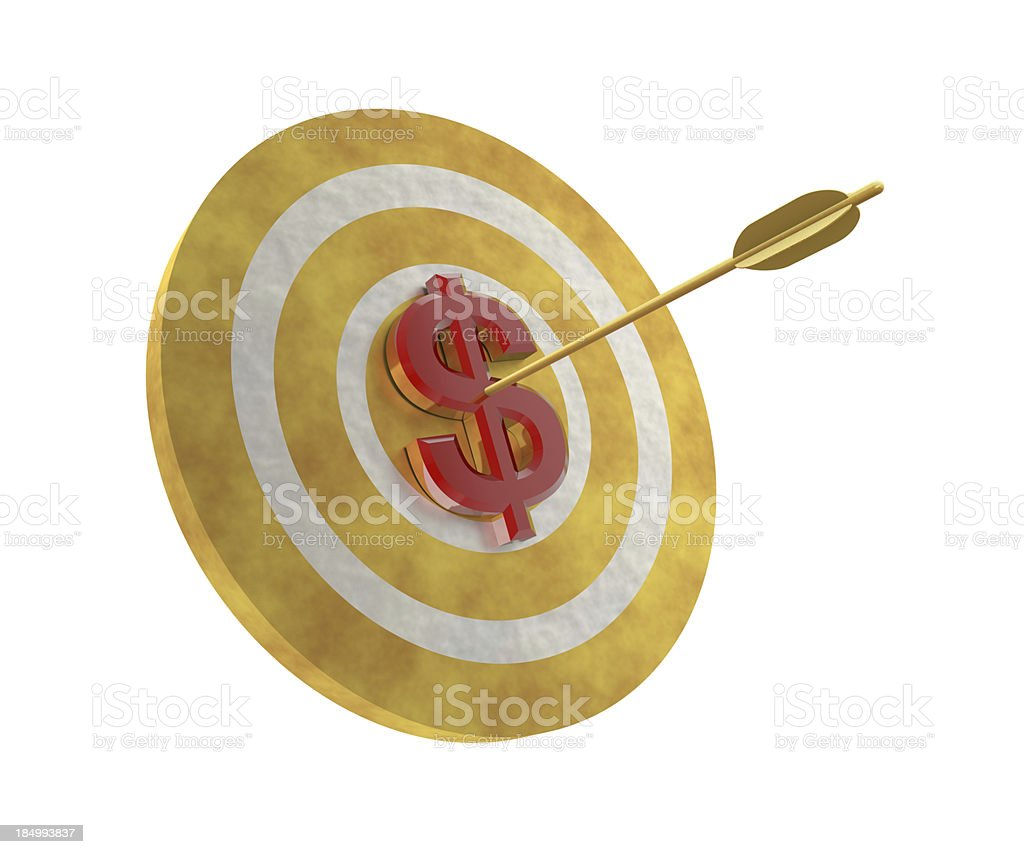 Dollar on Target stock photo