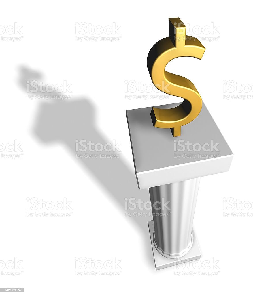 Dollar on top royalty-free stock photo