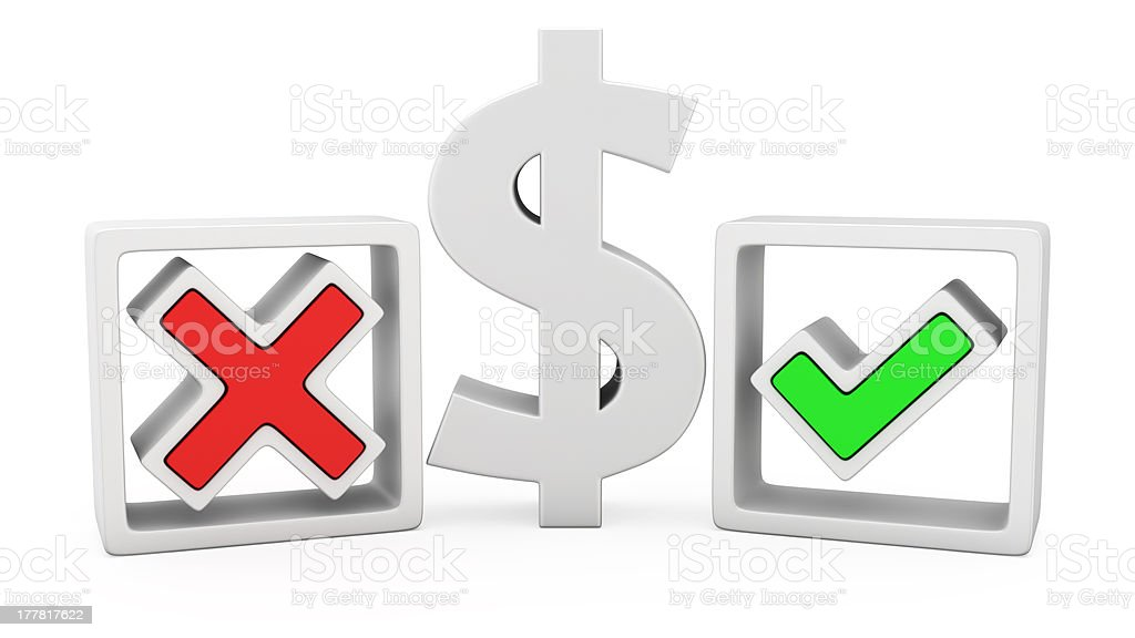 Dollar or not? royalty-free stock photo