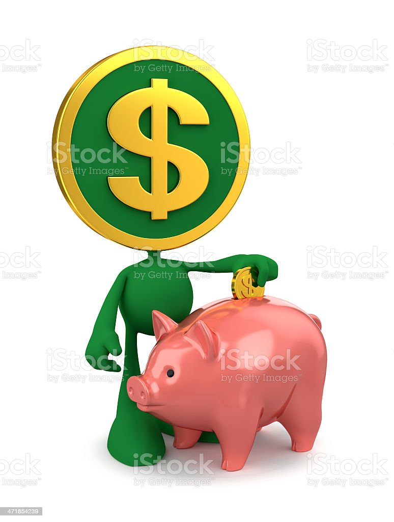 Dollar Piggy Bank Account royalty-free stock photo