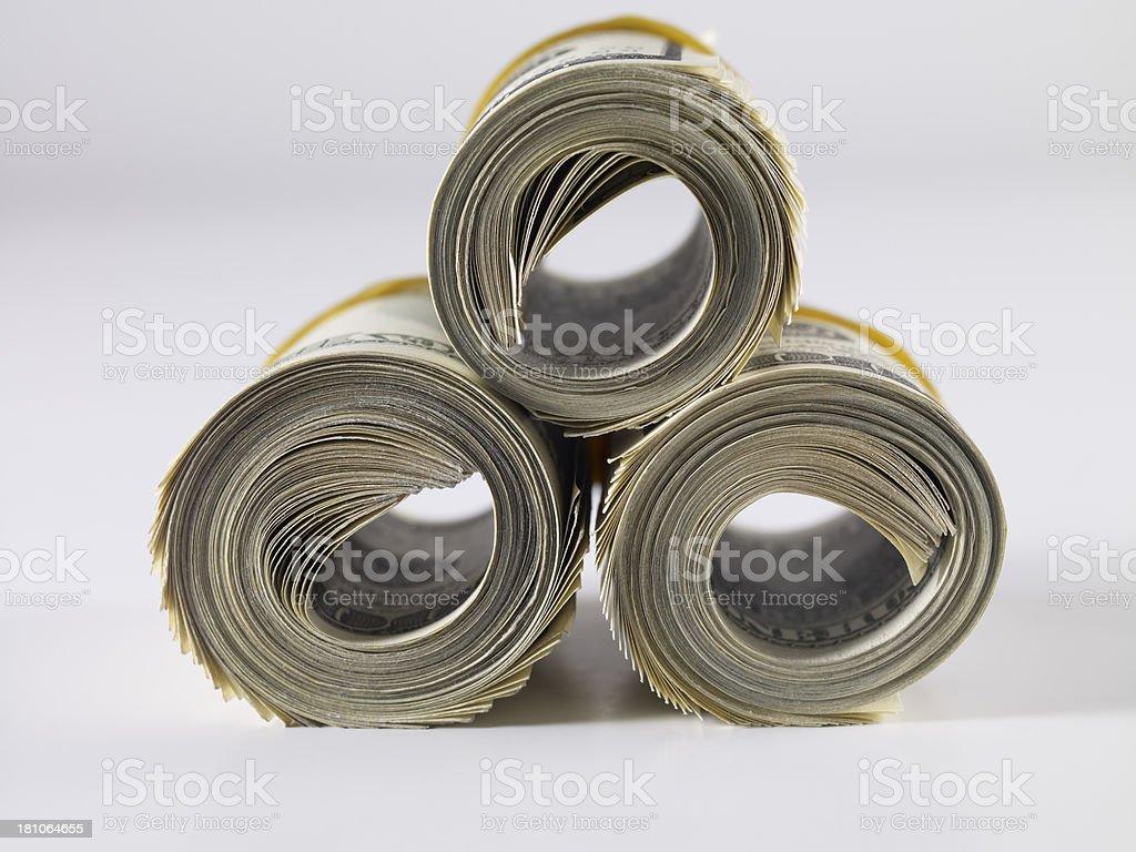 Dollar Pile royalty-free stock photo