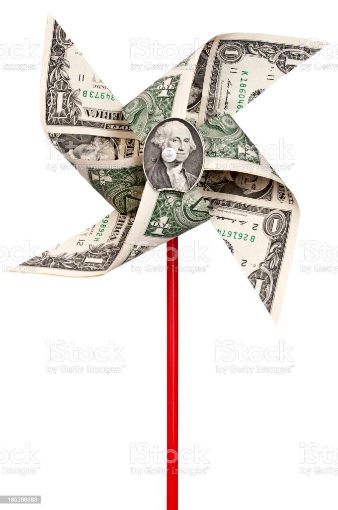 Dollar pinwheel stock photo