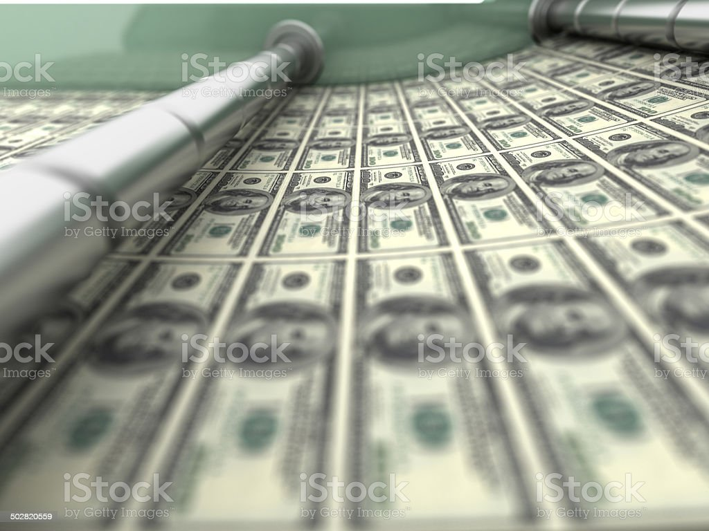 Dollar Printing stock photo