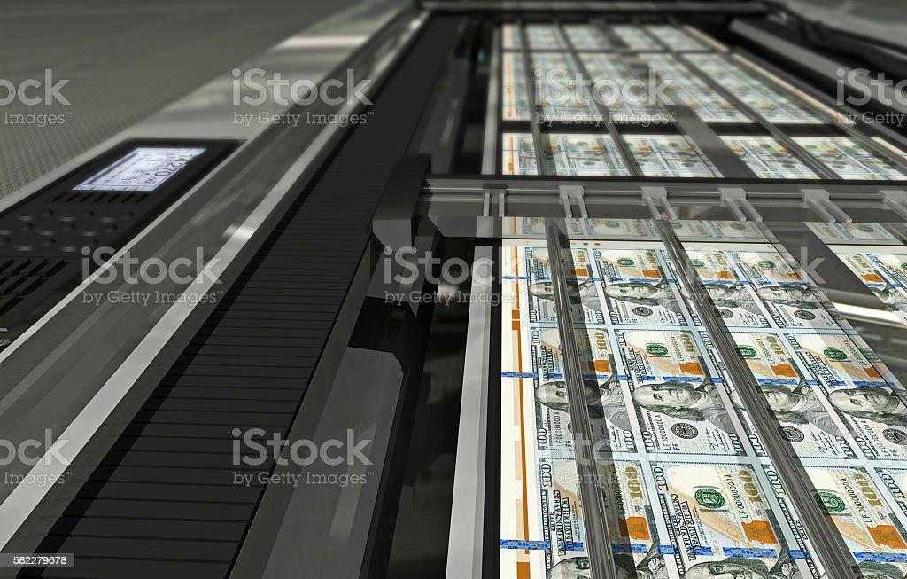 Dollar printing stock photo