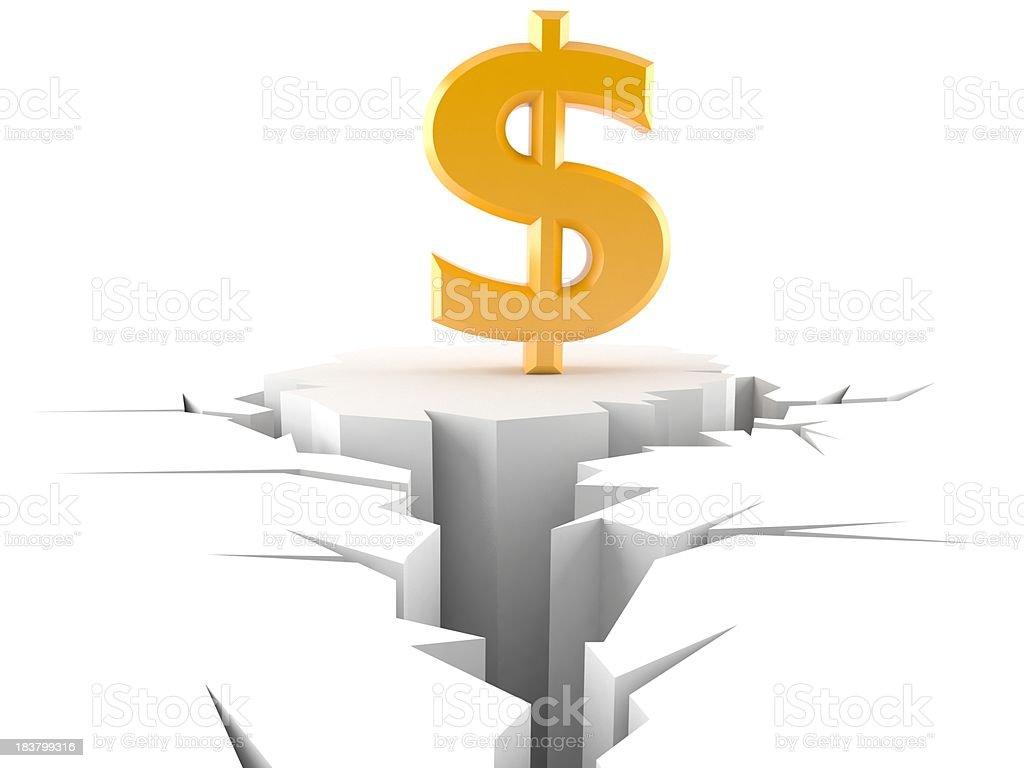 Dollar problem royalty-free stock photo