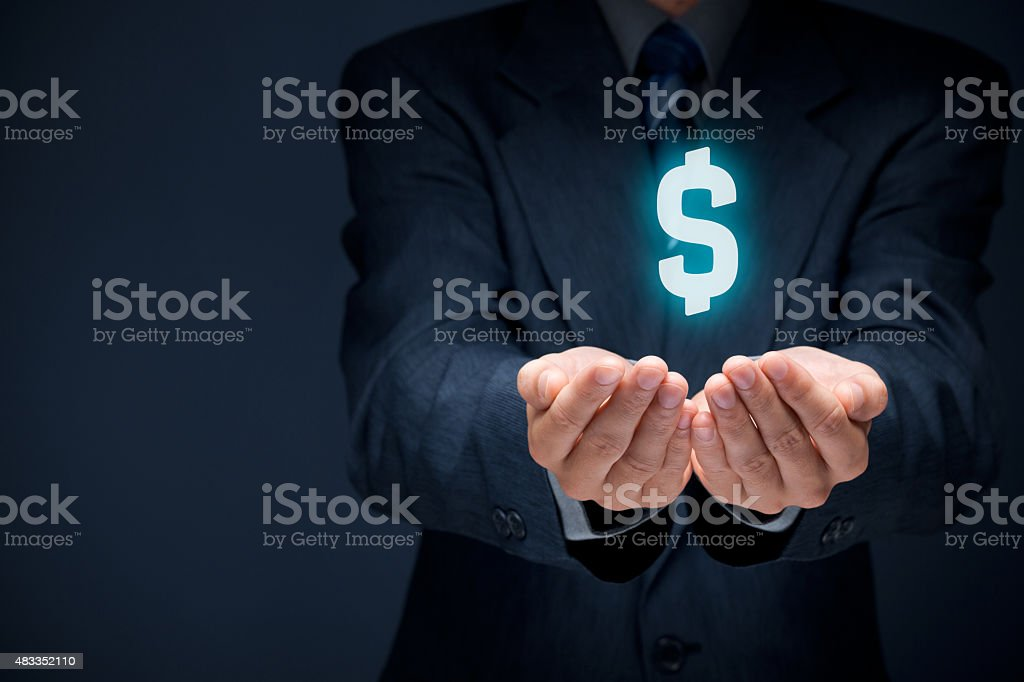 Dollar protection stock photo