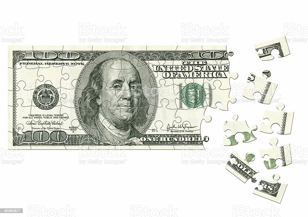 Dollar - puzzle royalty-free stock photo
