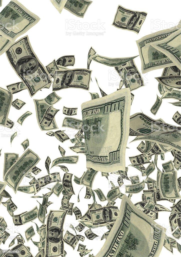 Dollar Rain royalty-free stock photo