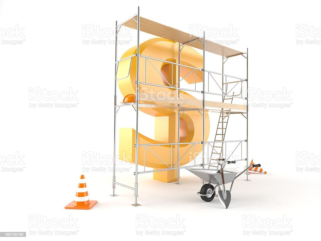Dollar rehabilitation royalty-free stock photo