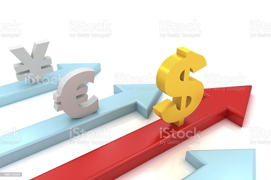 Dollar Rising royalty-free stock photo