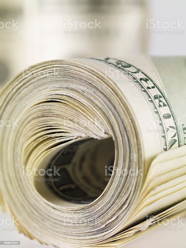 Dollar Roll royalty-free stock photo