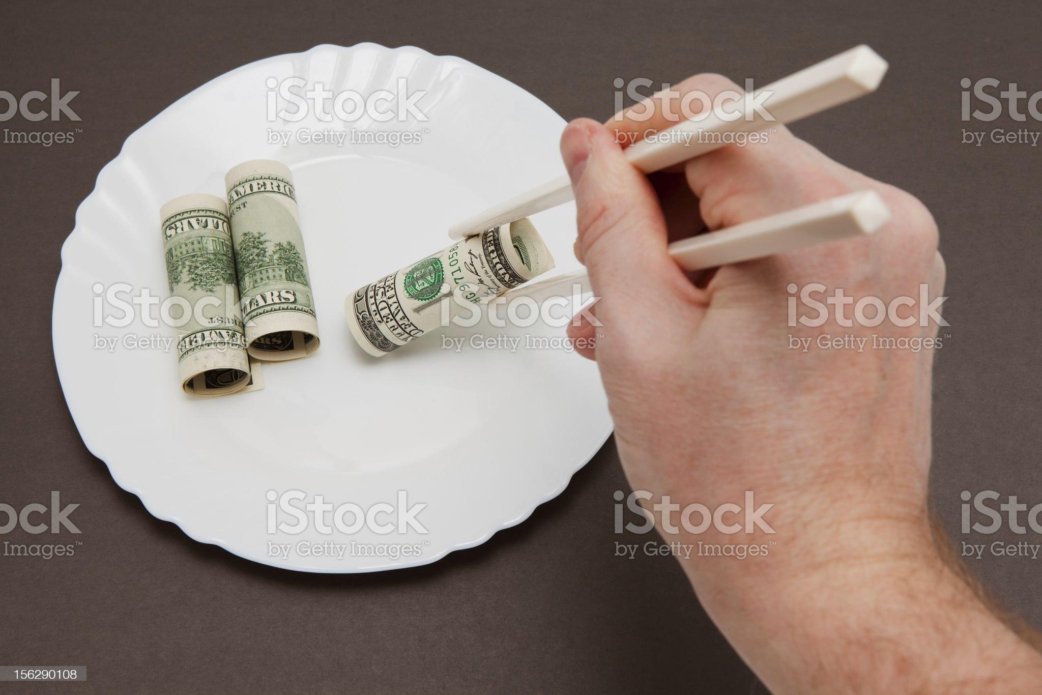 Dollar rolls royalty-free stock photo