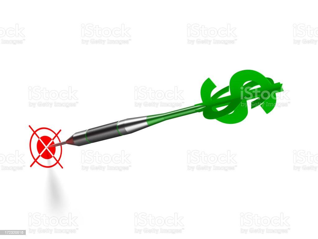 Dollar Shaped Dart royalty-free stock photo
