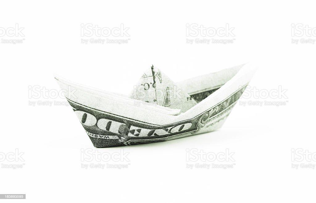 Dollar ship royalty-free stock photo