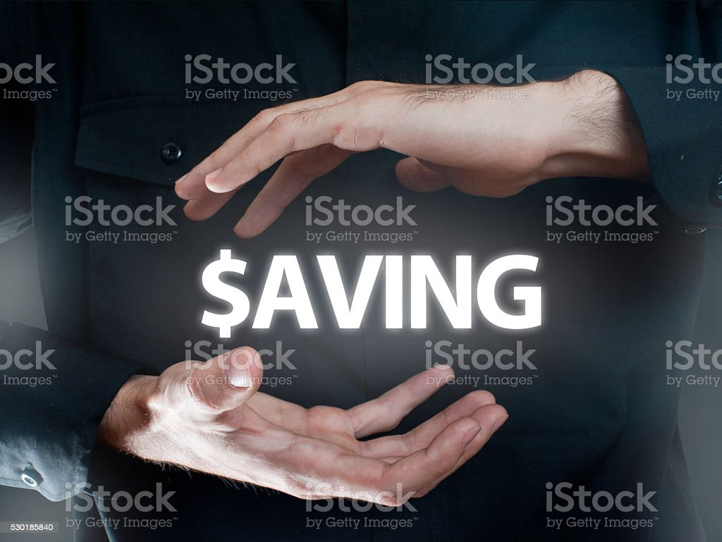 SAVING Dollar sign / Business concept (Click for more) stock photo