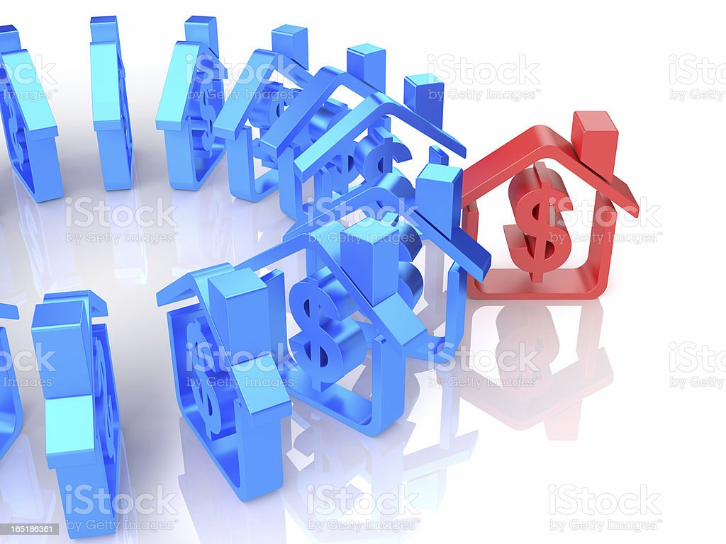 Dollar Sign House royalty-free stock photo