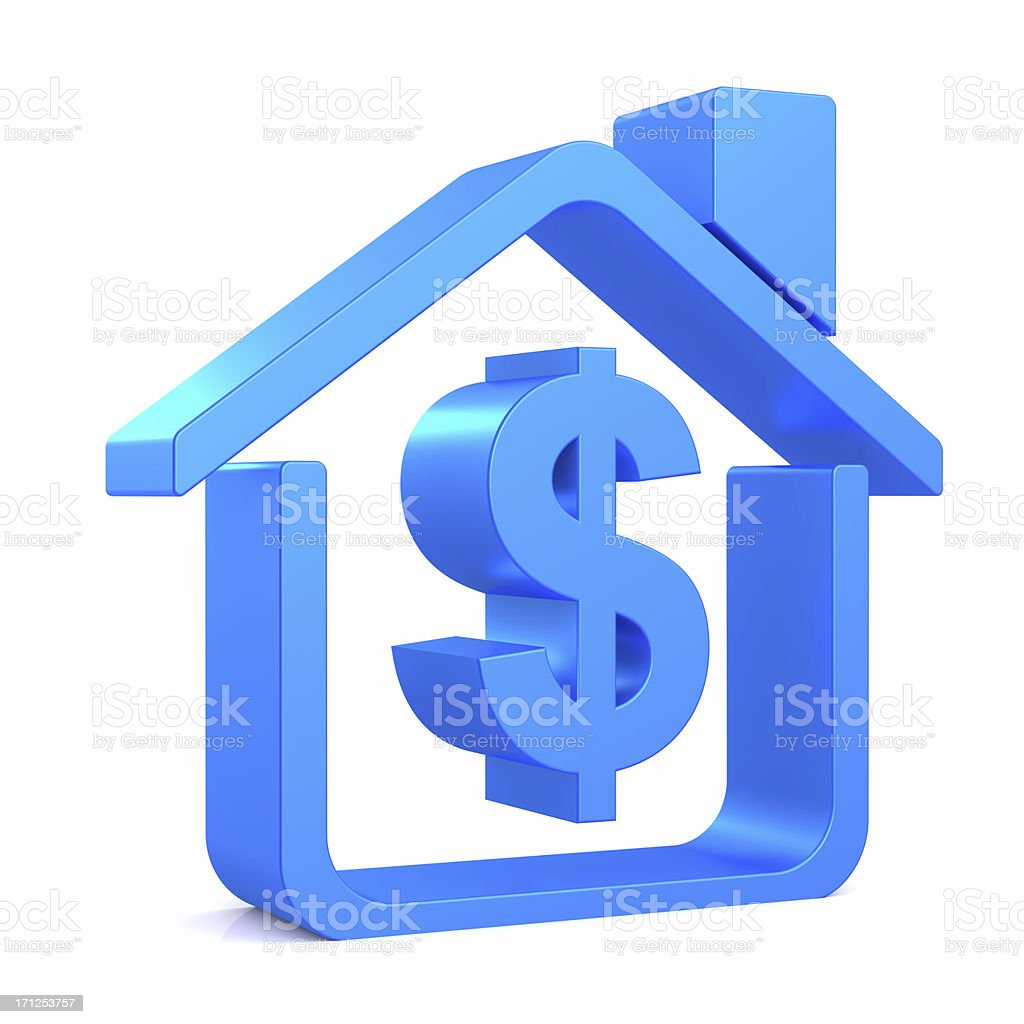 Dollar Sign House stock photo
