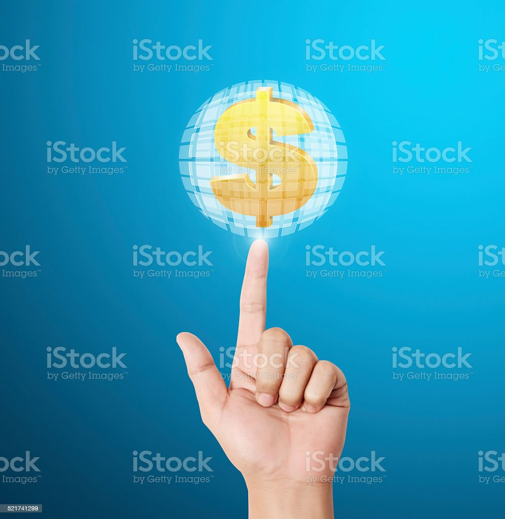 Dollar sign icon for business concept stock photo