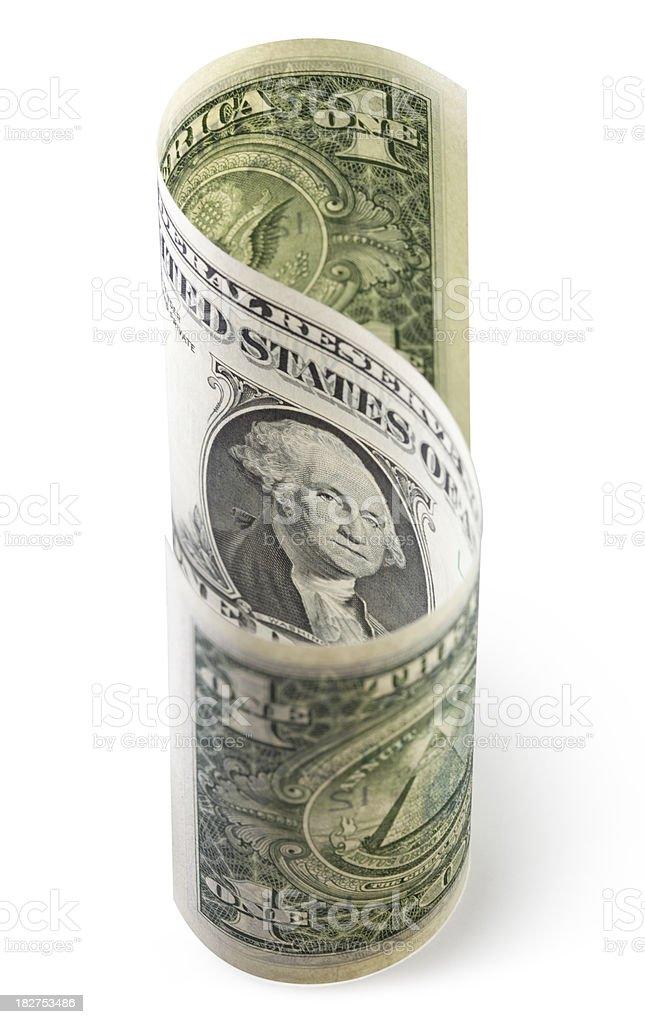Dollar sign. One-dollar bill royalty-free stock photo
