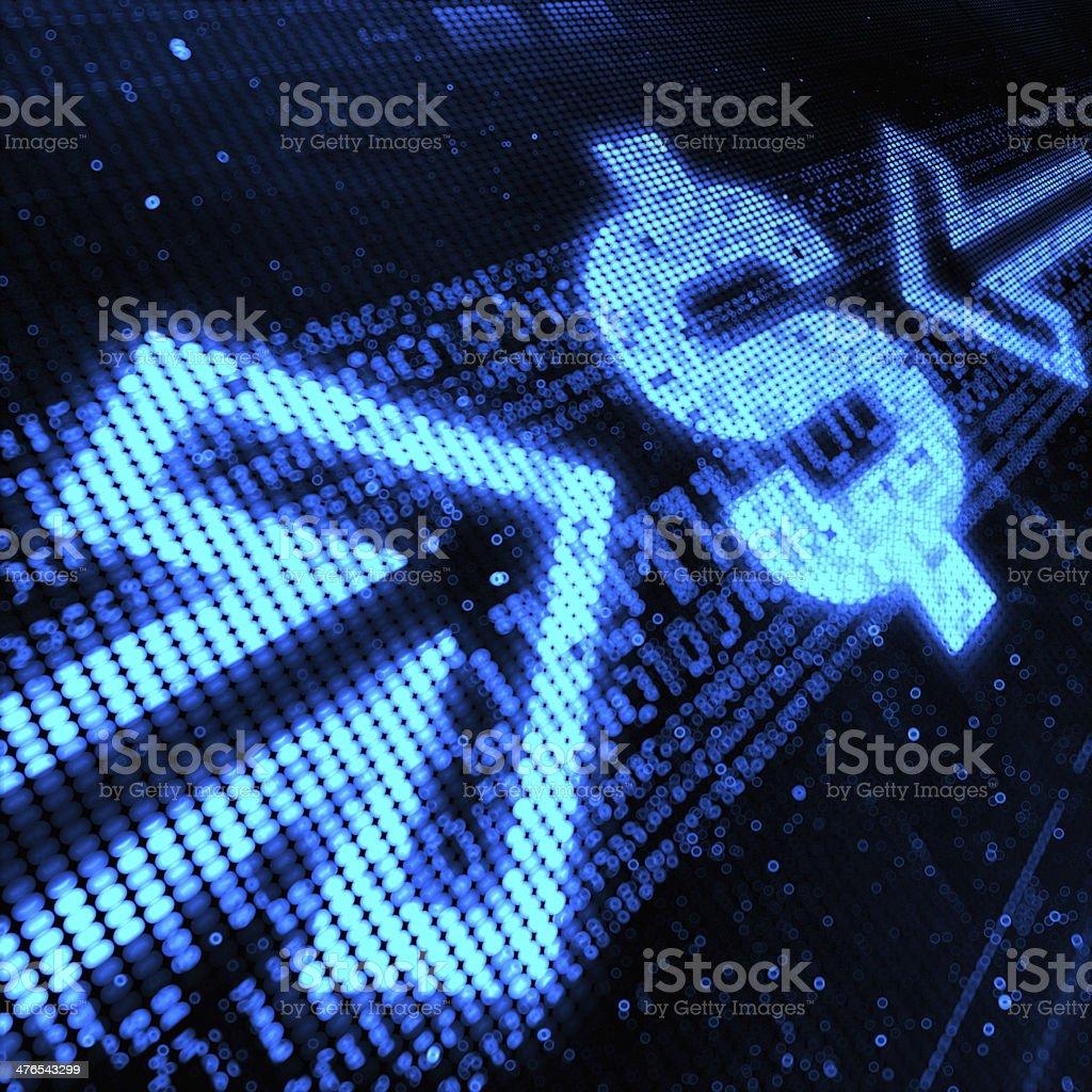Dollar Sign royalty-free stock photo