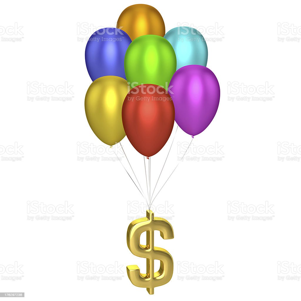 Dollar Sign With Balloons stock photo