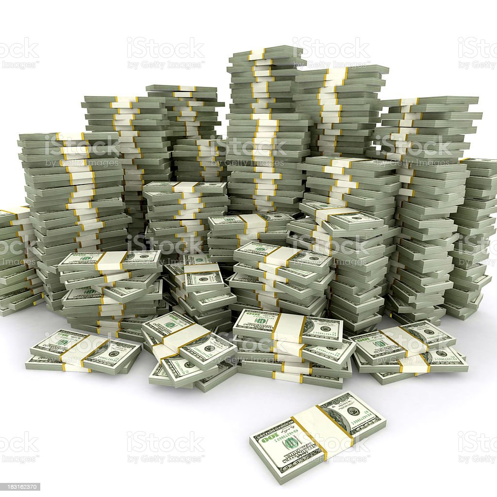 dollar stacks stock photo