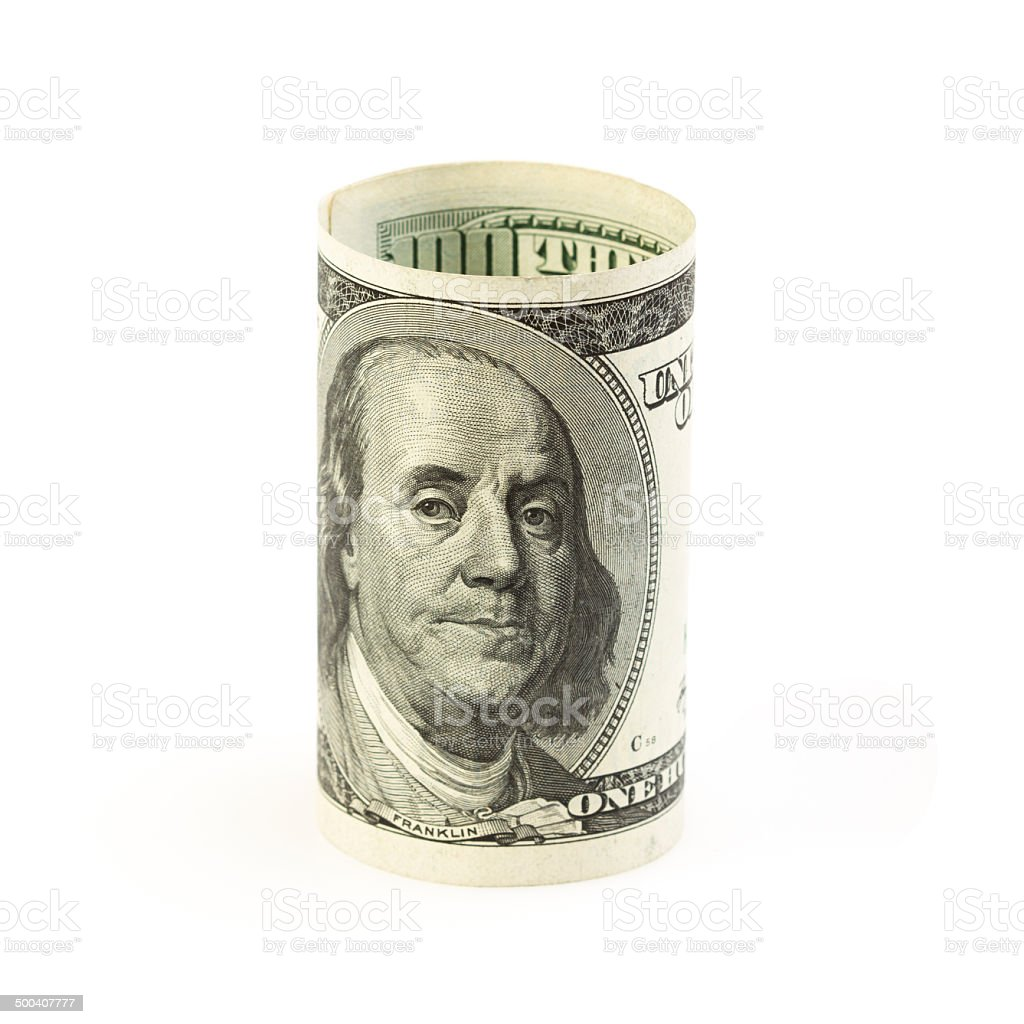 dollar stand on white royalty-free stock photo
