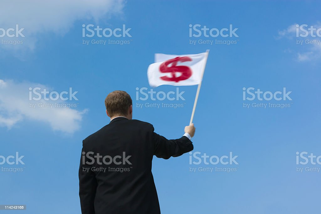 Dollar surrenders (XXL) royalty-free stock photo