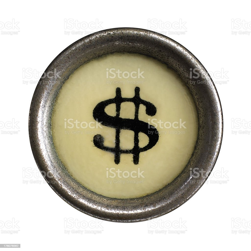 Dollar symbol royalty-free stock photo