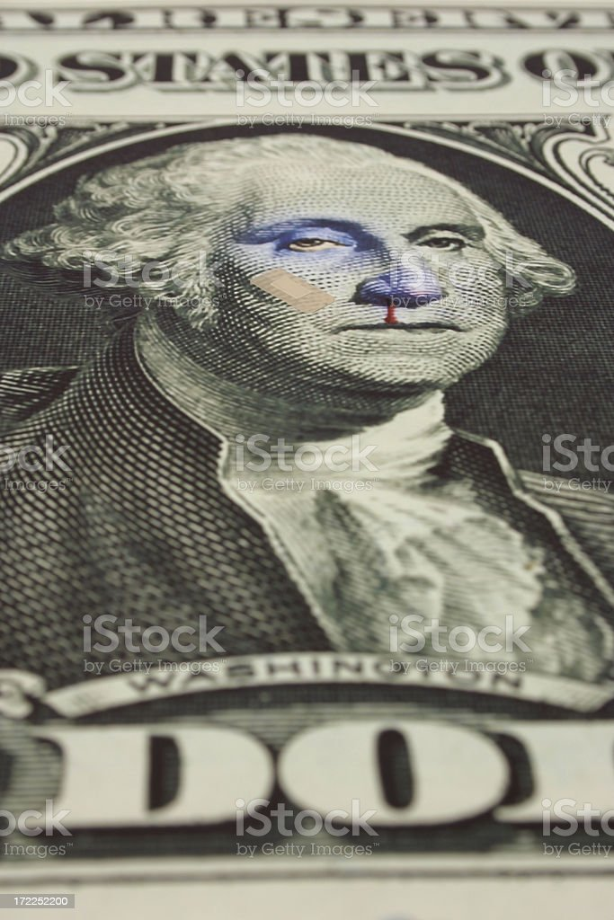 Dollar Takes a Fall royalty-free stock photo