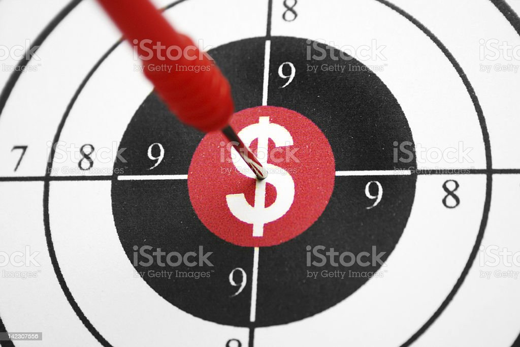 Dollar target royalty-free stock photo