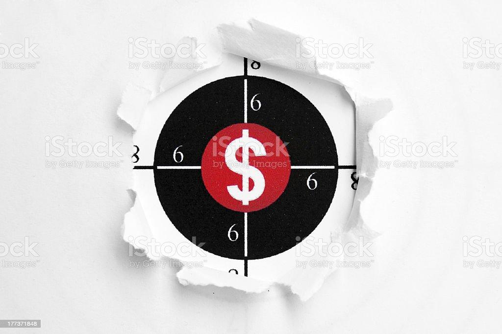 Dollar target royalty-free stock photo