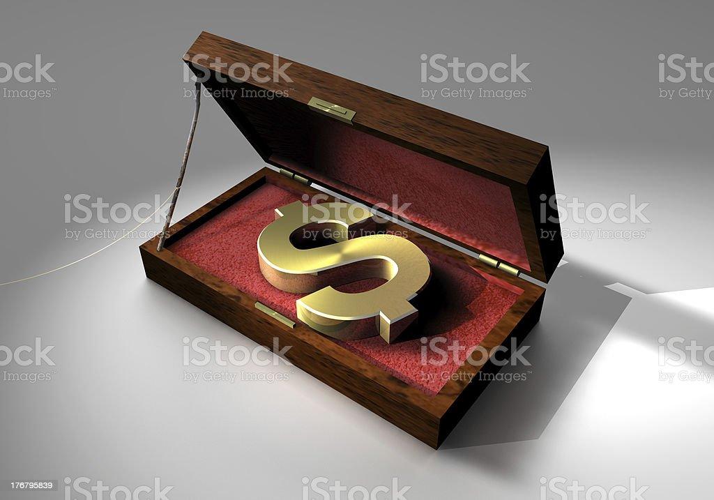 Dollar Trap Box royalty-free stock photo