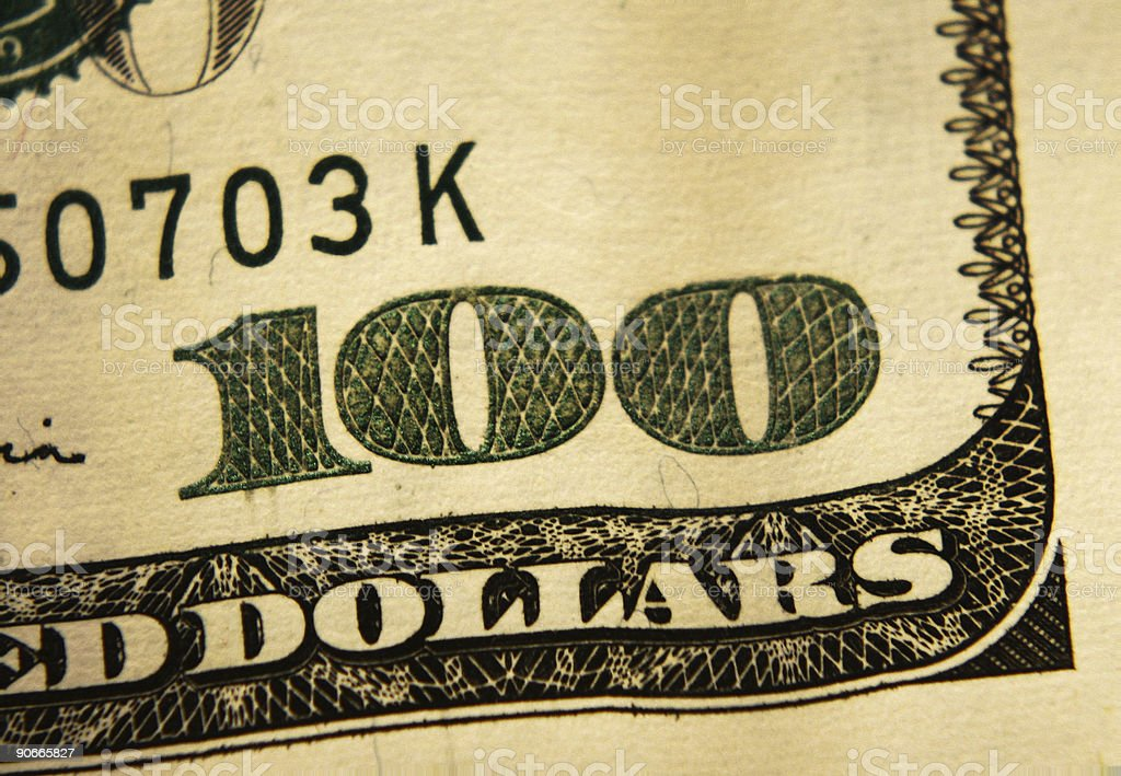 Dollar U$ 100 stock photo