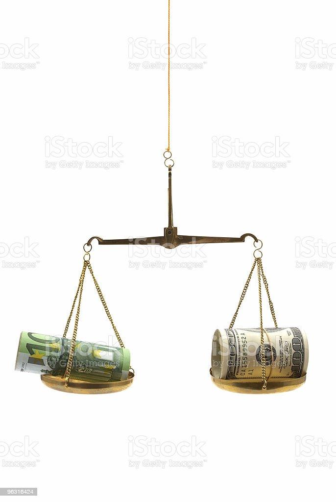Dollar versus Euro royalty-free stock photo