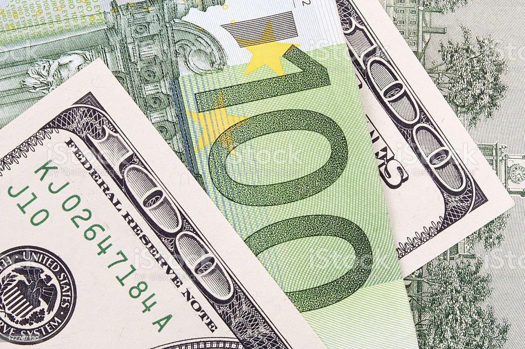 Dollar vs Euro royalty-free stock photo