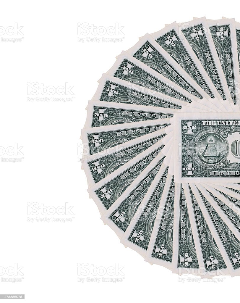 Dollar wheel isolated stock photo